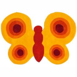 nuLOOM Handmade Kids Butterfly Yellow Rug (3' x 4'3)