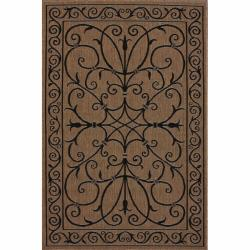 nuLOOM Outdoor/ Indoor Brown Rug (8' x 11')