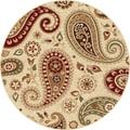 Infinity Collection Ivory Area Rug (5'3 Round)