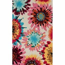 nuLOOM Handmade Modern Abstract Floral Rug (5' x 8')