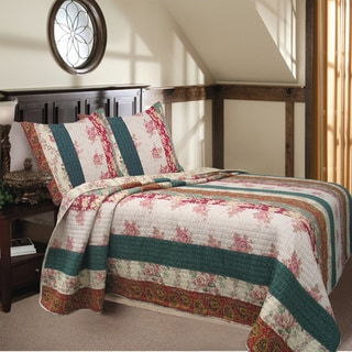 Rosa Stripe 3-piece Quilt Set