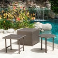 Christopher Knight Home Palmilla Dark Grey Wicker Table Set (Set of 3)