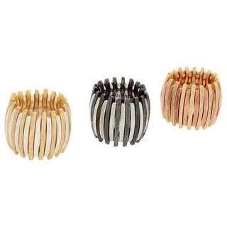 Nexte Jewelry Two-tone Rail Stretch Ring