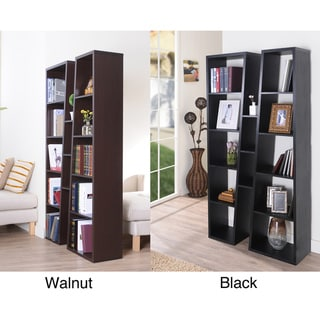 Furniture of America Black Ten-shelf Bookcase