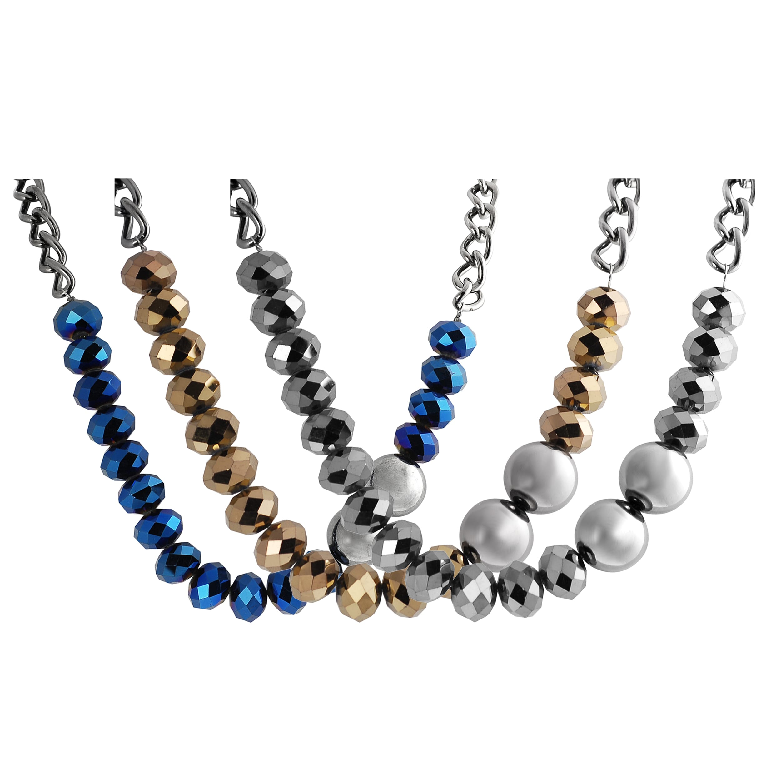 Journee Collection Gunmetal Base Metal Crystal Fashion Necklace