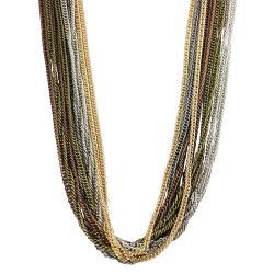 Journee Collection Muti-tone Multi-strand Chain Necklace