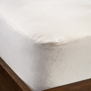 Dream Decor Organic Cotton Waterproof Plain Top Twin-size Mattress Pad