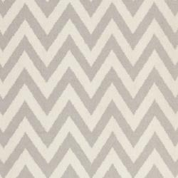 Safavieh Hand-woven Moroccan Reversible Dhurrie Chevron Grey/ Ivory Wool Rug (5' x 8')
