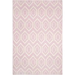 Safavieh Hand-woven Moroccan Reversible Dhurrie Pink/ Ivory Wool Rug (8' x 10')