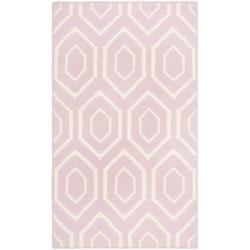 Safavieh Hand-woven Moroccan Dhurrie Pink/ Ivory Wool Rug (3' x 5')