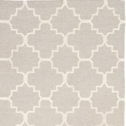 Safavieh Hand-woven Moroccan Reversible Dhurrie Grey/ Ivory Wool Rug (6' x 9')