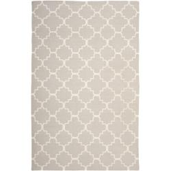 Safavieh Hand-woven Moroccan Dhurrie Grey/ Ivory Wool Rug (10' x 14')