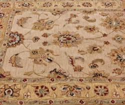 Handspun Decorative Persian Natural New Zealand Wool Area Rug (5' x 8')