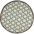 Safavieh Hand-woven Moroccan Dhurrie Light Blue/ Brown Wool Rug (6' Round)