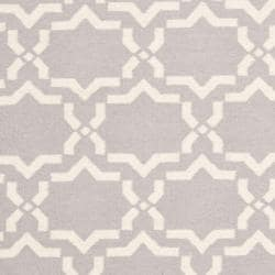 Safavieh Handwoven Moroccan Dhurrie Gray/ Ivory Wool Area Rug (10' x 14')