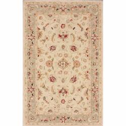 nuLOOM Handspun Decorative Persian Natural New Zealand Wool Rug (5' x 8')