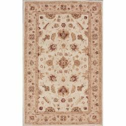 nuLOOM Handspun Decorative Persian Ivory New Zealand Wool Rug (5' x 8')