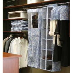 Organized Living 13 Piece Floral Blue Garment Bag Set