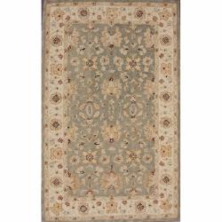 nuLOOM Handspun Decorative Persian Grey New Zealand Wool Rug (6' x 9')