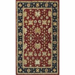 nuLOOM Handspun Decorative Persian Red New Zealand Wool Rug (6' x 9')