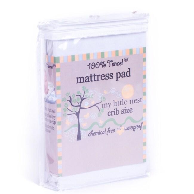 My Little Nest Waterproof Tencel Crib Mattress Pad
