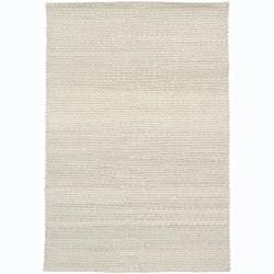 Hand-woven Diya Abstract Ivory Wool Rug (7'9 x 10'6)