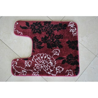Popular Country Shabby Floral Chic Pink Rose Bath Rug FloorDoor Mat K Style