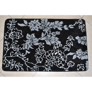  Memory Foam 20x32-inch Floral Bath Rug 