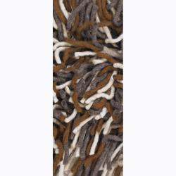 Hand-woven Bigsha New Zealand Wool Shag Rug (5' x 7'6)