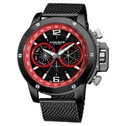 Akribos XXIV Men's Mesh Bracelet Multifunction Watch