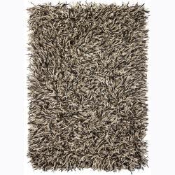 Traditional Handwoven Cyrolli Flat-Cut Pile New Zealand Wool Shag Rug (5' x 7'6