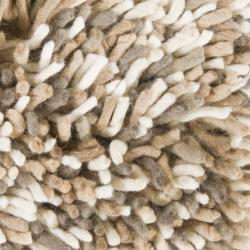 Artist's Loom Hand-woven Wool Shag Rug (7'9x10'6)