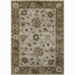 Hand-tufted Bajrang Oriental Wool Rug (7' x 10')