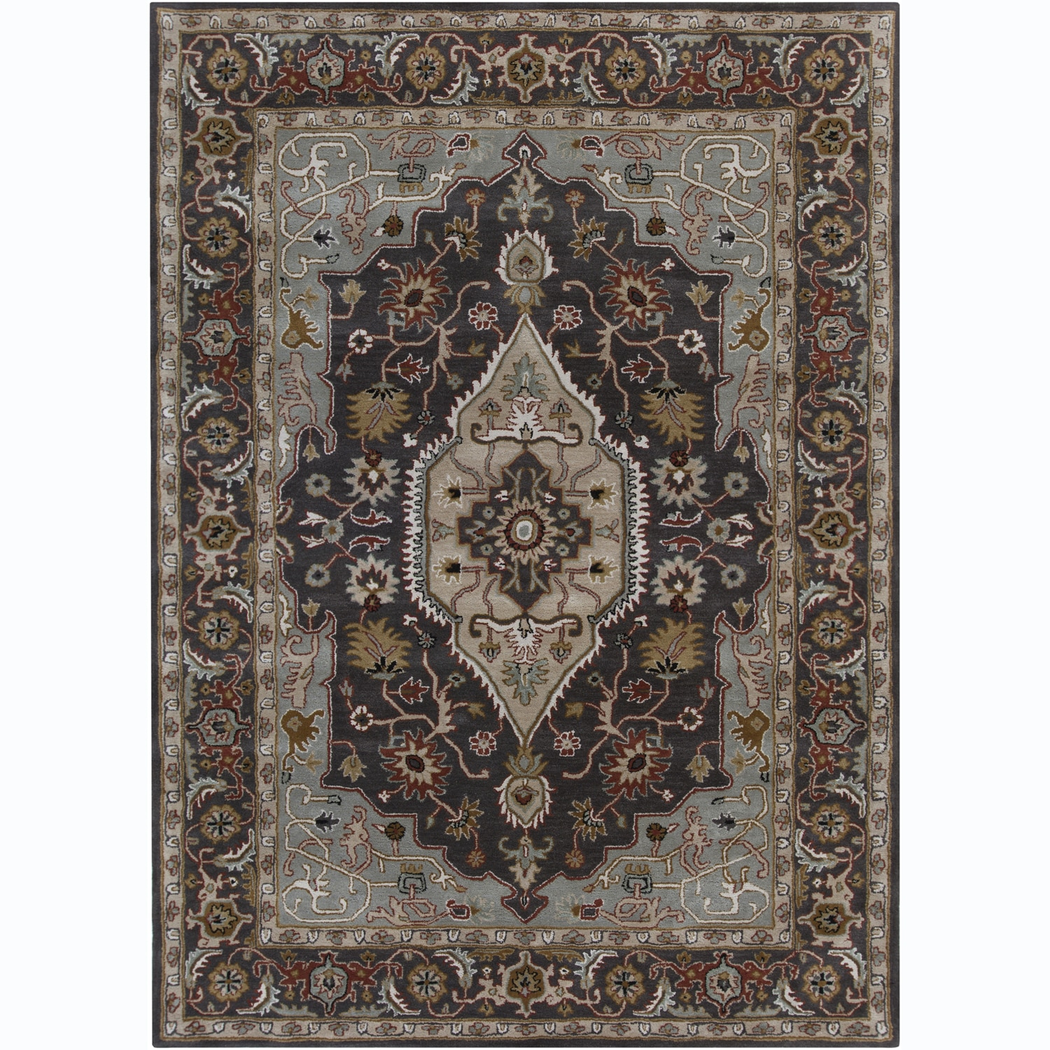 Hand Knotted Persian Style Wool Pile Area Rug: Share: