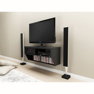 Series 9 Designer Collection Black 42-inch Wide Wall Mounted AV Console