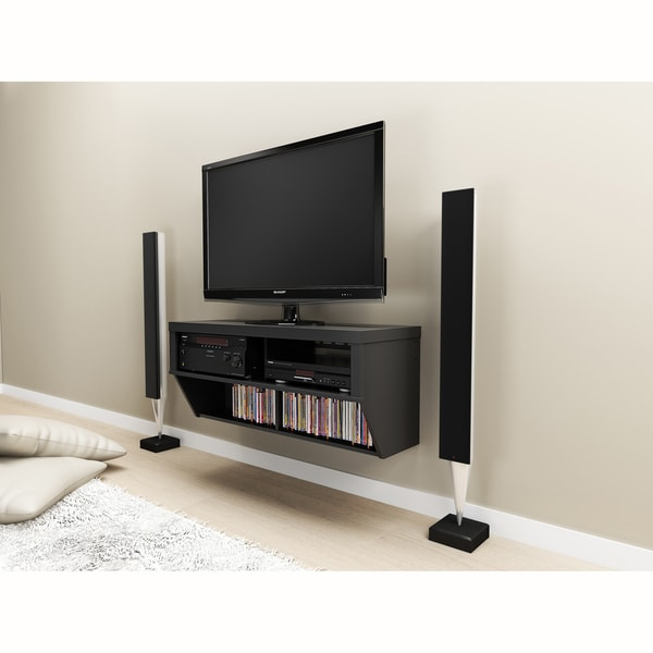 Valhalla Designer Collection Black 42-inch Wide Wall Mounted AV Console