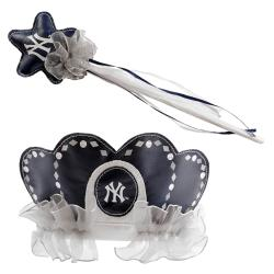New York Yankees Princess Tiara Wand Set