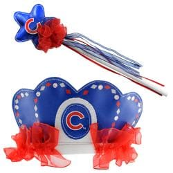 Chicago Cubs Princess Tiara Wand Set