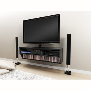 Series 9 Designer Collection Black 58-inch Wide Wall Mounted AV Console