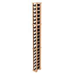 Traditional Redwood One Column Wine Rack