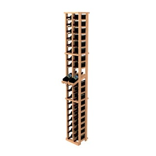 Traditional Redwood 2-Column Wine Rack with Display Row