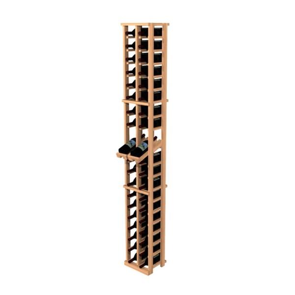 Traditional Redwood 2-Column Wine Rack with Display Row