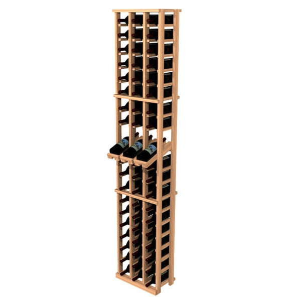 Traditional Redwood 3-Column Wine Rack with Display Row
