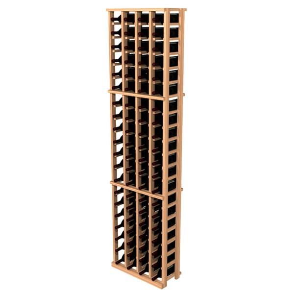 Traditional Redwood 4-Column Wine Rack