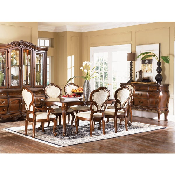 Bourbonnais 7 Piece Dining Set With Fully Upholstered Chairs