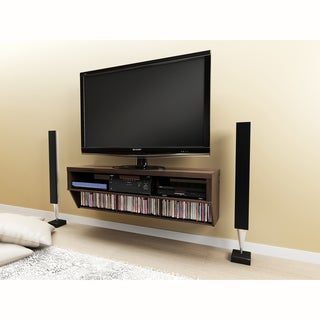 Series 9 Designer Collection Espresso 58-inch Wide Wall Mounted AV Console