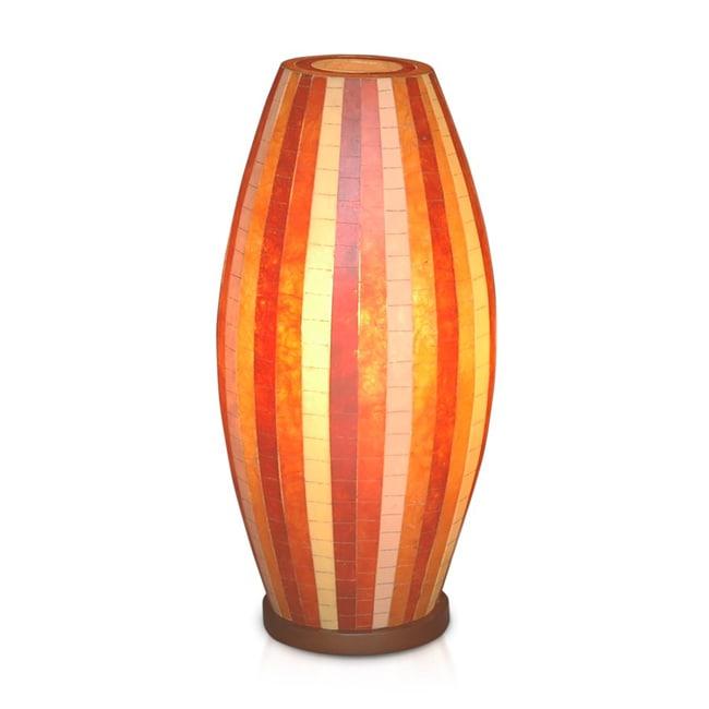 Decorative Orange Contemporary Sedona Mosaic Table Lamp