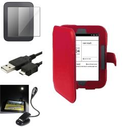 INSTEN Phone Case Cover/ Screen Protector/ LED Light/ Cable for Barnes & Noble Nook 2