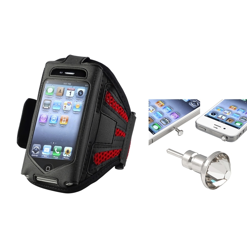 INSTEN Lightweight ArmBand iPod Case Cover/ Headset Dust Cap for Apple iPod Touch Generation 2/ 3