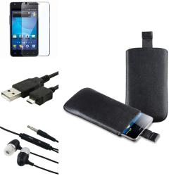Pouch/ LCD Protector/ Cable/ Headset for Samsung Galaxy S II AT&T i777